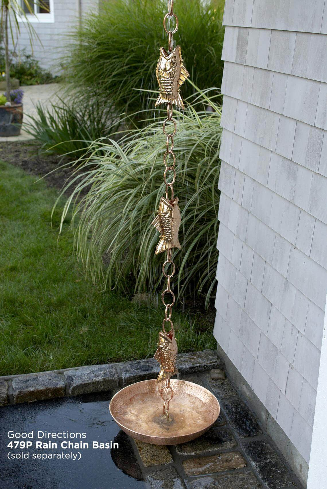 Cute Pure Copper Fish Rain Chain