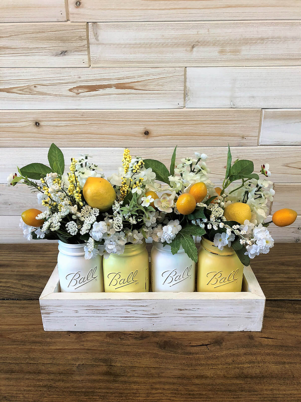 Fresh Summertime Ball Jar Bouquets