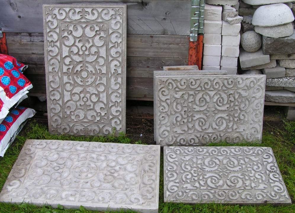 Spectacular Scrolled Stamped Concrete Tile Blocks