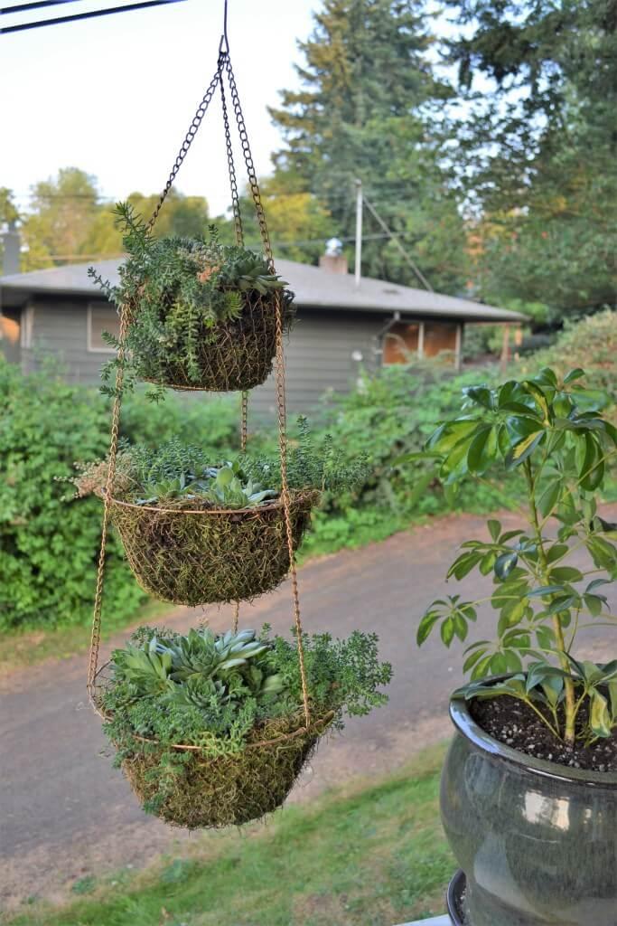 Tiered Trio Chain Hanging Baskets