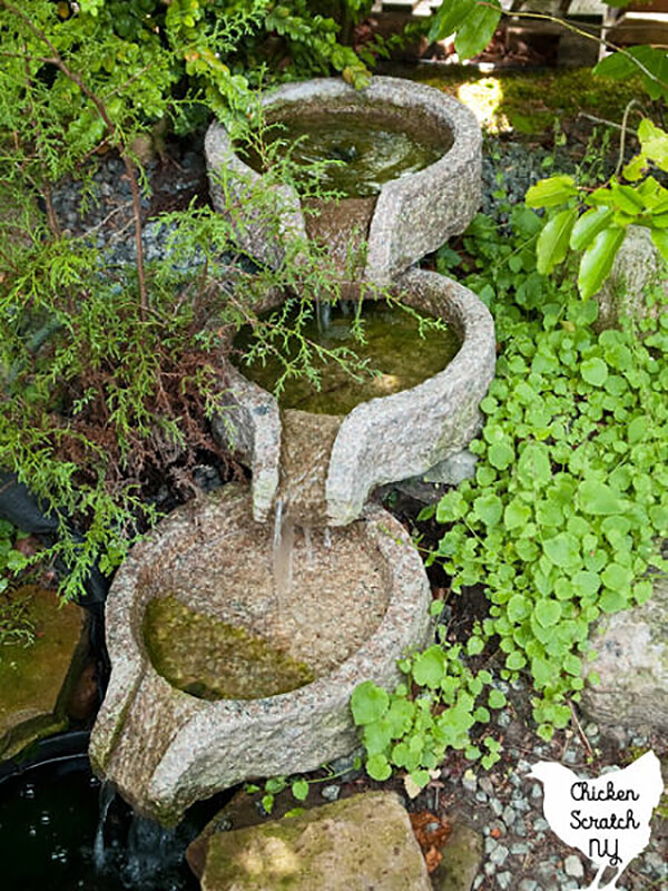 Geometric Stone Fountain for Ultimate Relaxation
