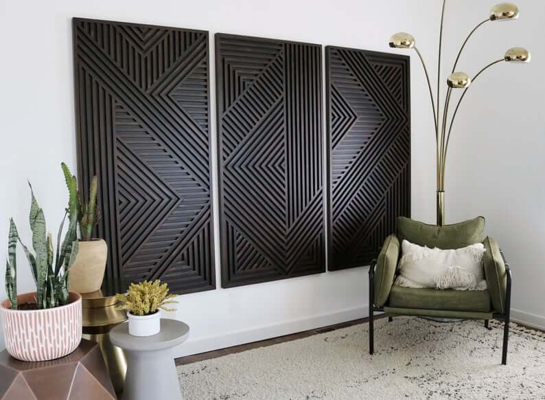 Luxury Coordinating Geometric Panel Set