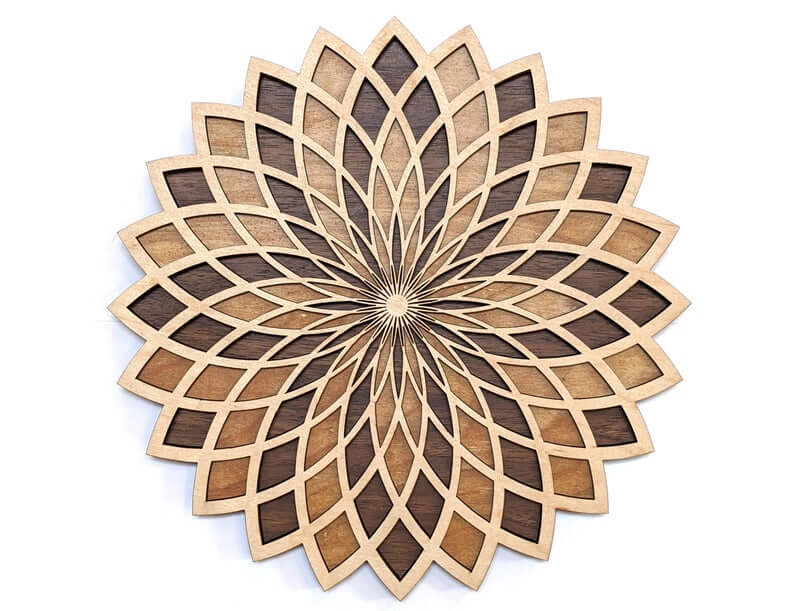 Torus Flower Wooden Wall Art for Meditation