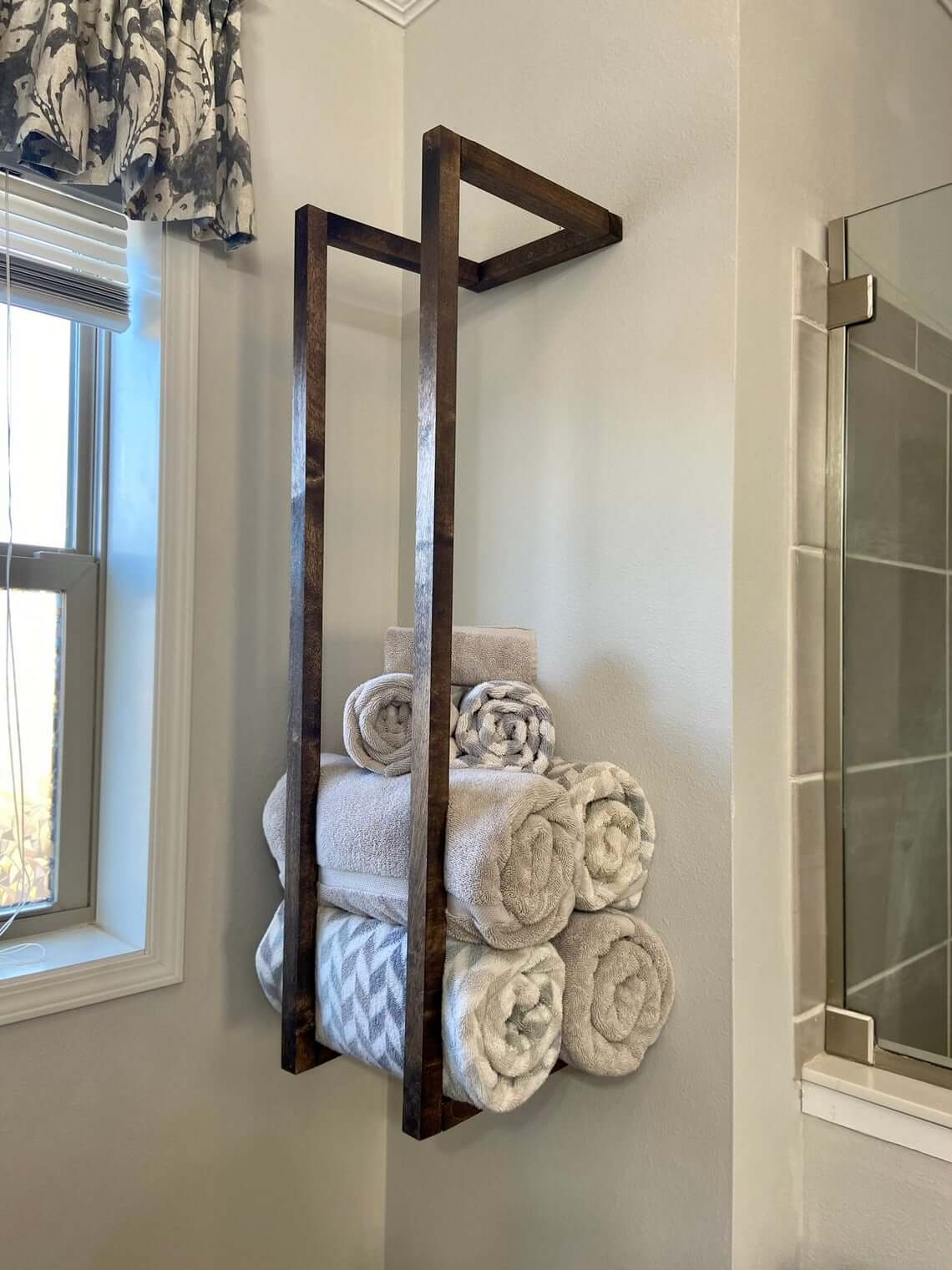 Modern Dark Wooden Bar Towel Holder