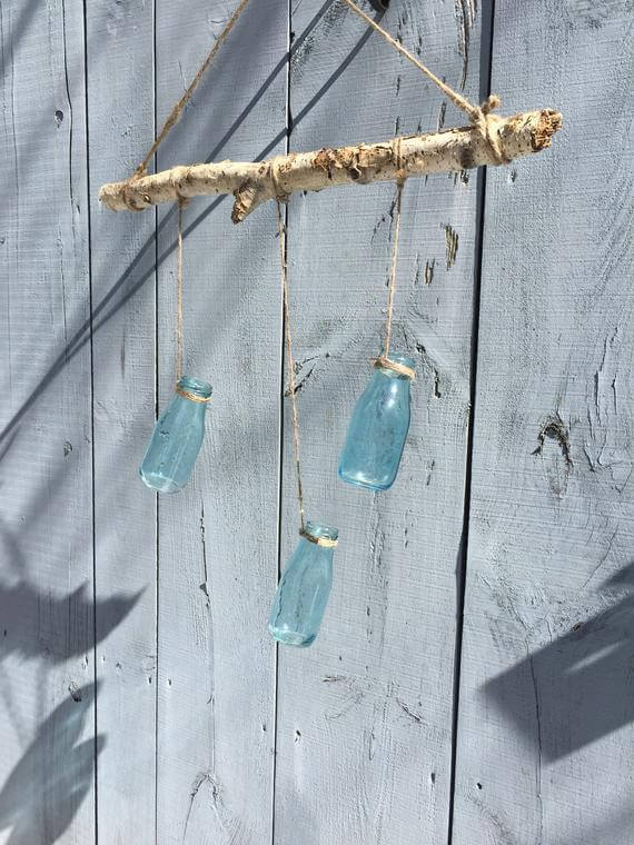 Rustic Hanging Bottle Vase or Chandelier