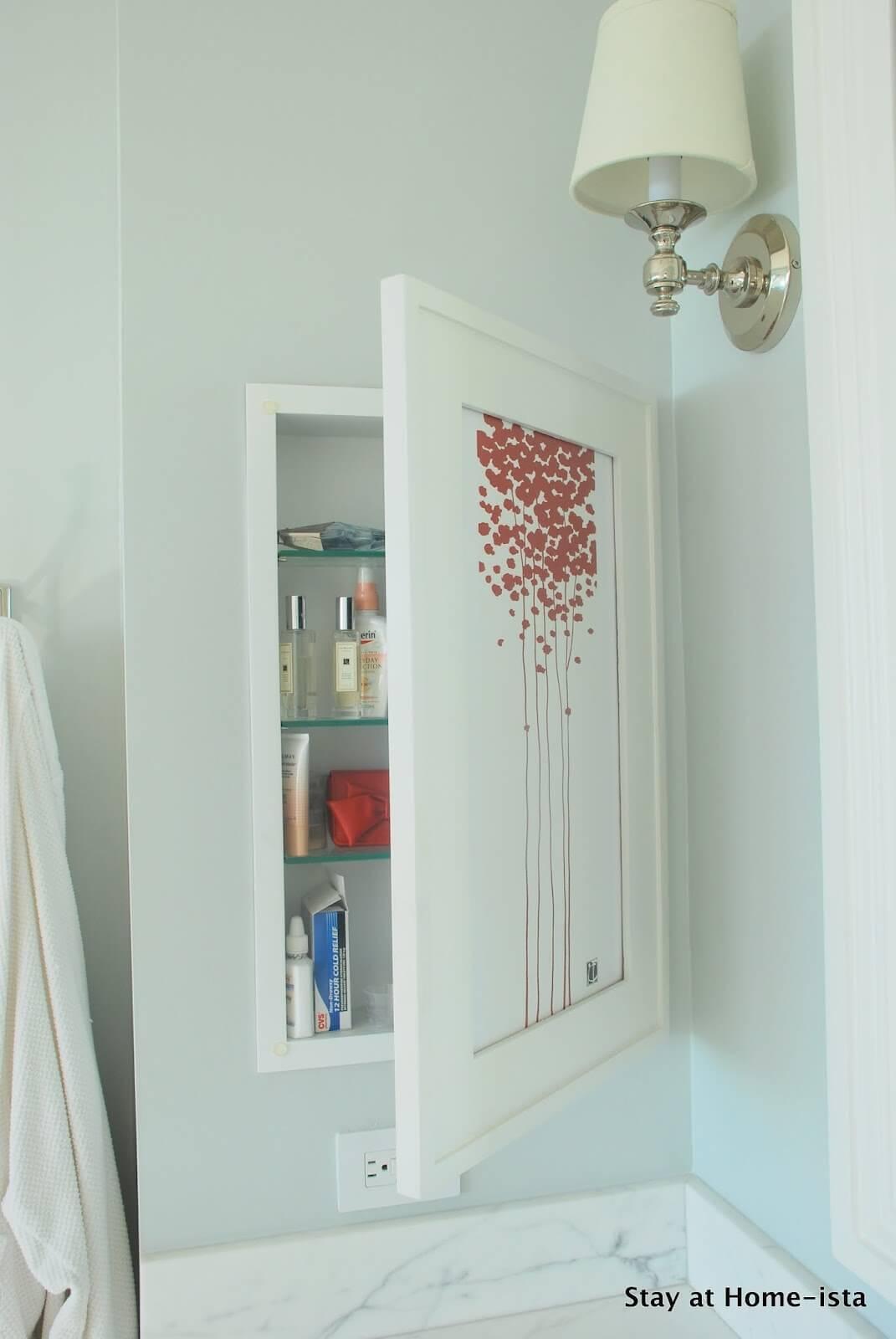 Wall Art Hidden Medicine Cabinet for Bathroom