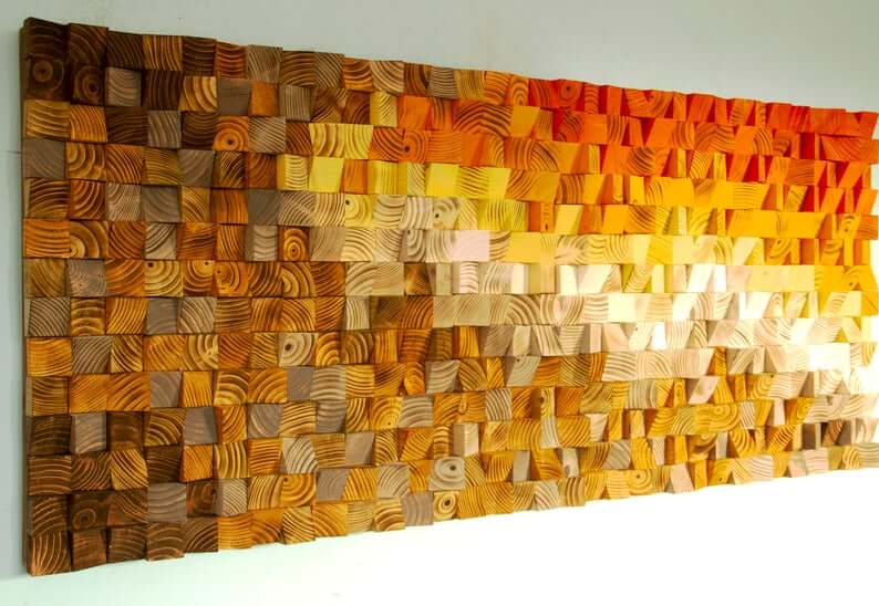 Breathtaking Dimensional Sunset Wood Wall Art Decor