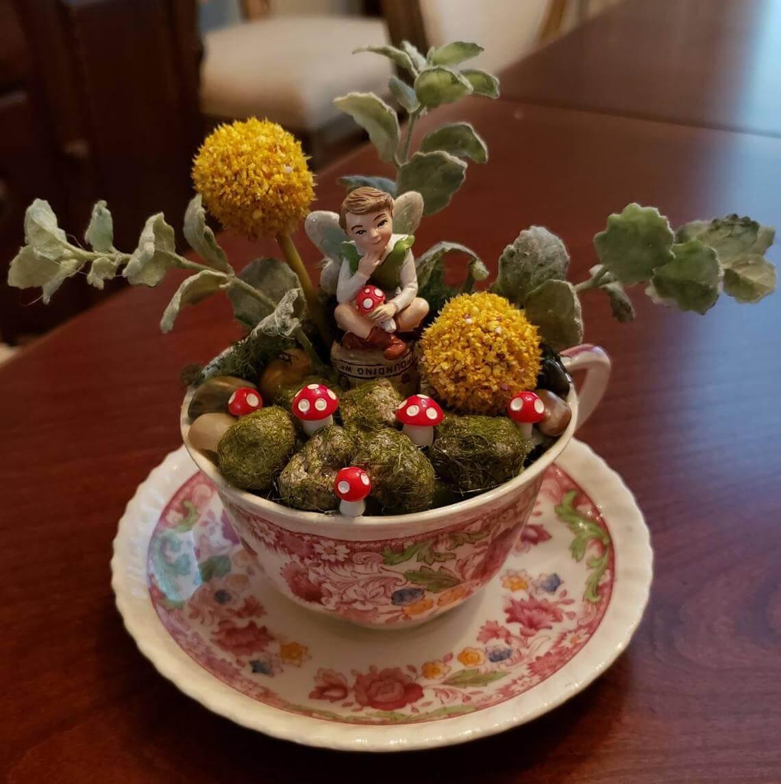 Thinking Fairy Miniature Garden of Toadstools
