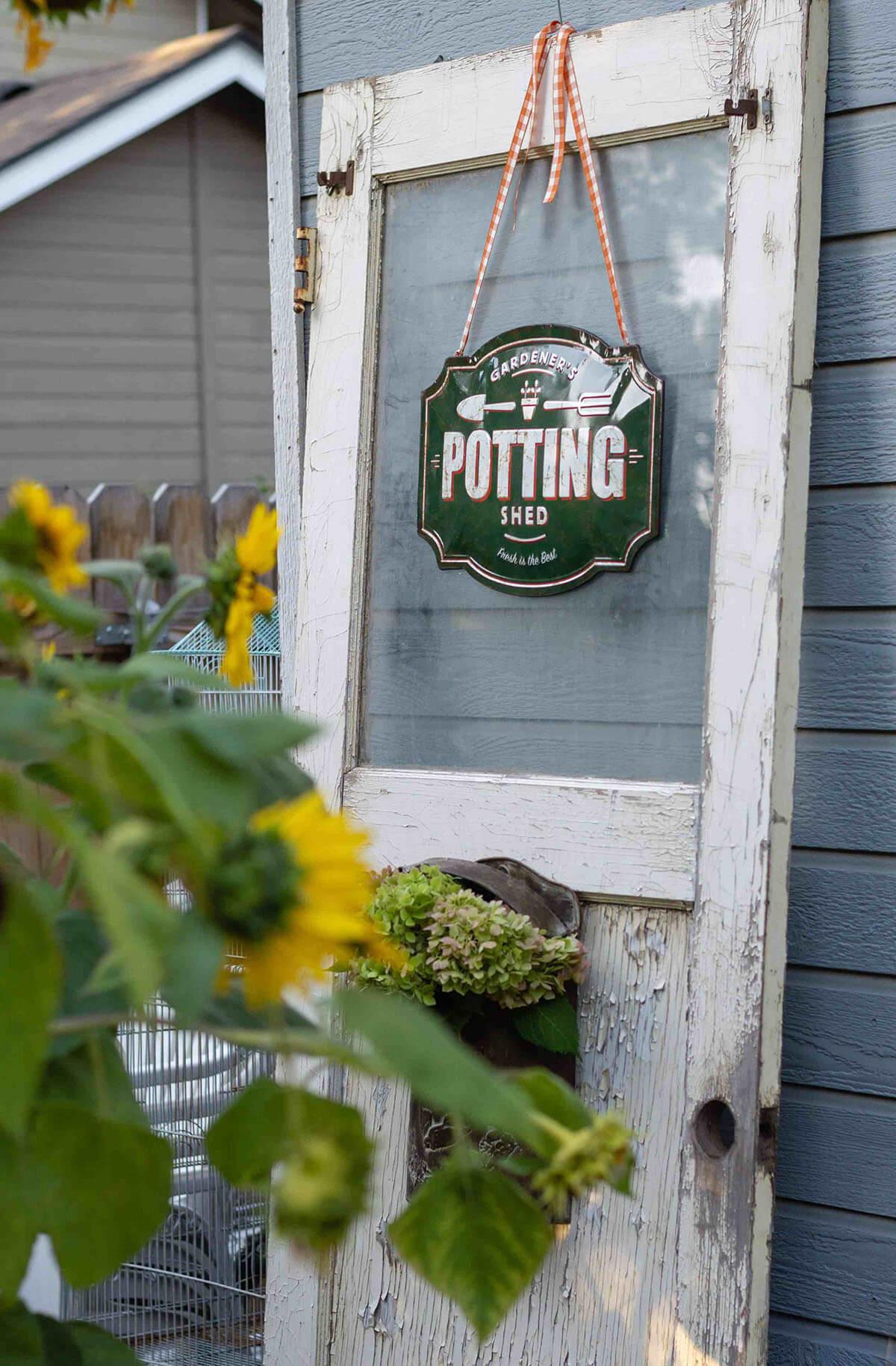Shabby Chic Reclaimed Vintage Door Yard Prop