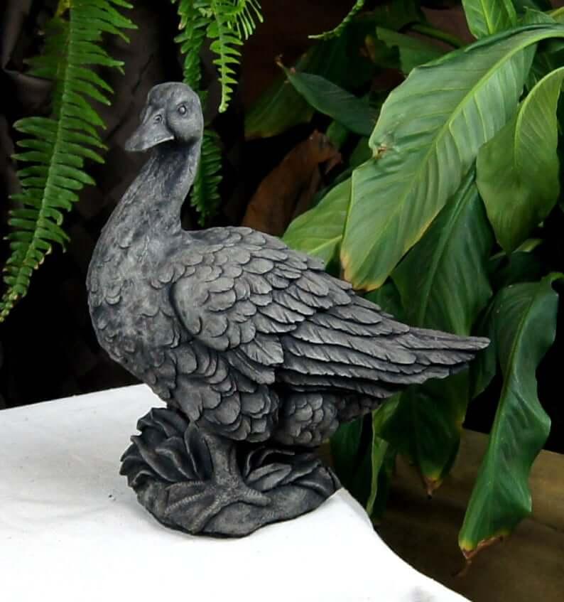 Farm Friendly Duck Cast Stone Sculpture