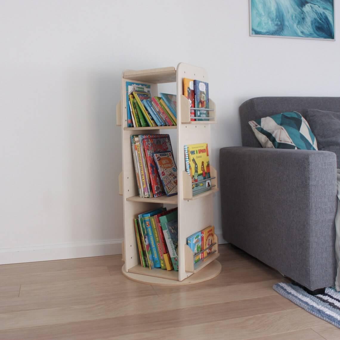 Simply Basic Birch Revolving Bookcase