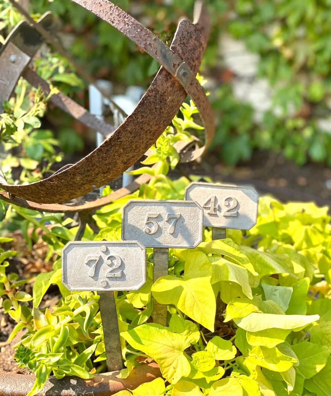 French-Inspired Numeral Metal Garden Stakes