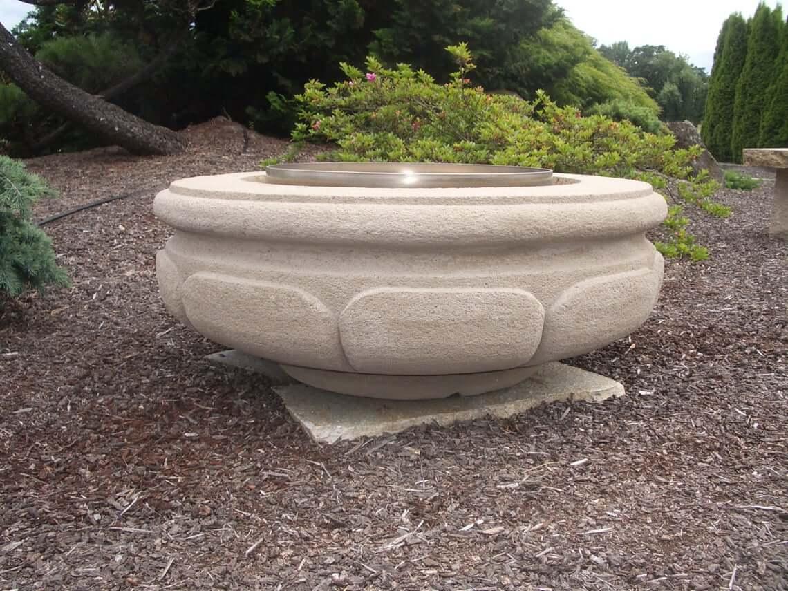 Outdoor Garden Circular Concrete Fire Pit Basin