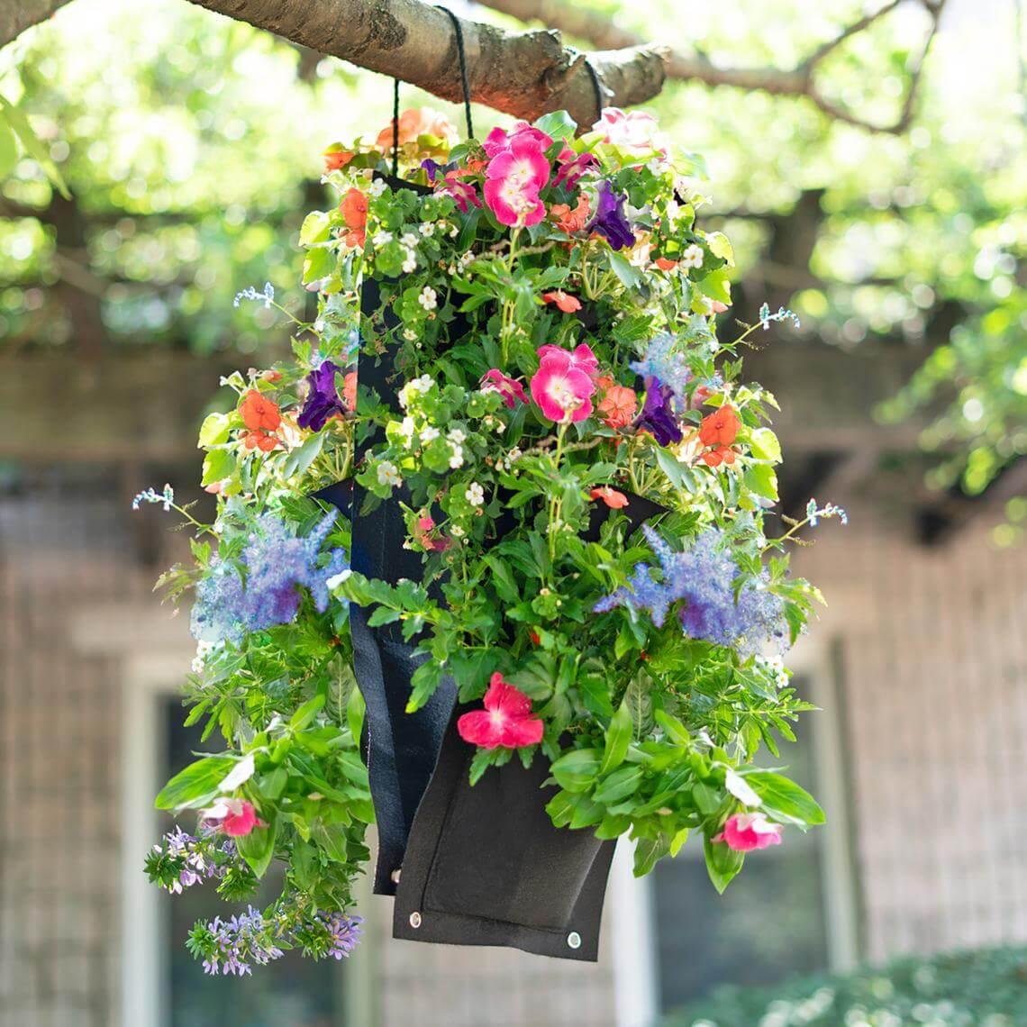 Over the Top Pocket Flower Hanging Basket