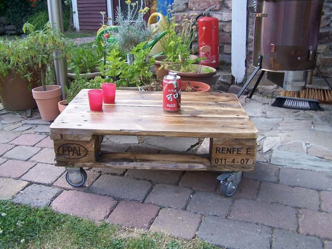 Vintage Pallet Wooden Coffee Table