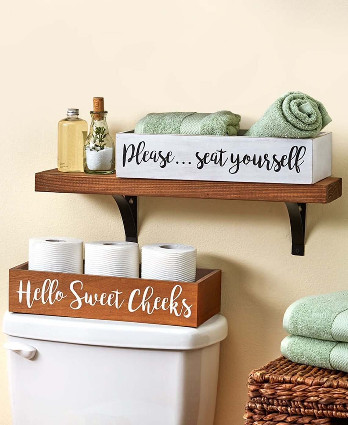 Cheeky Bathroom Humor Organizer Boxes