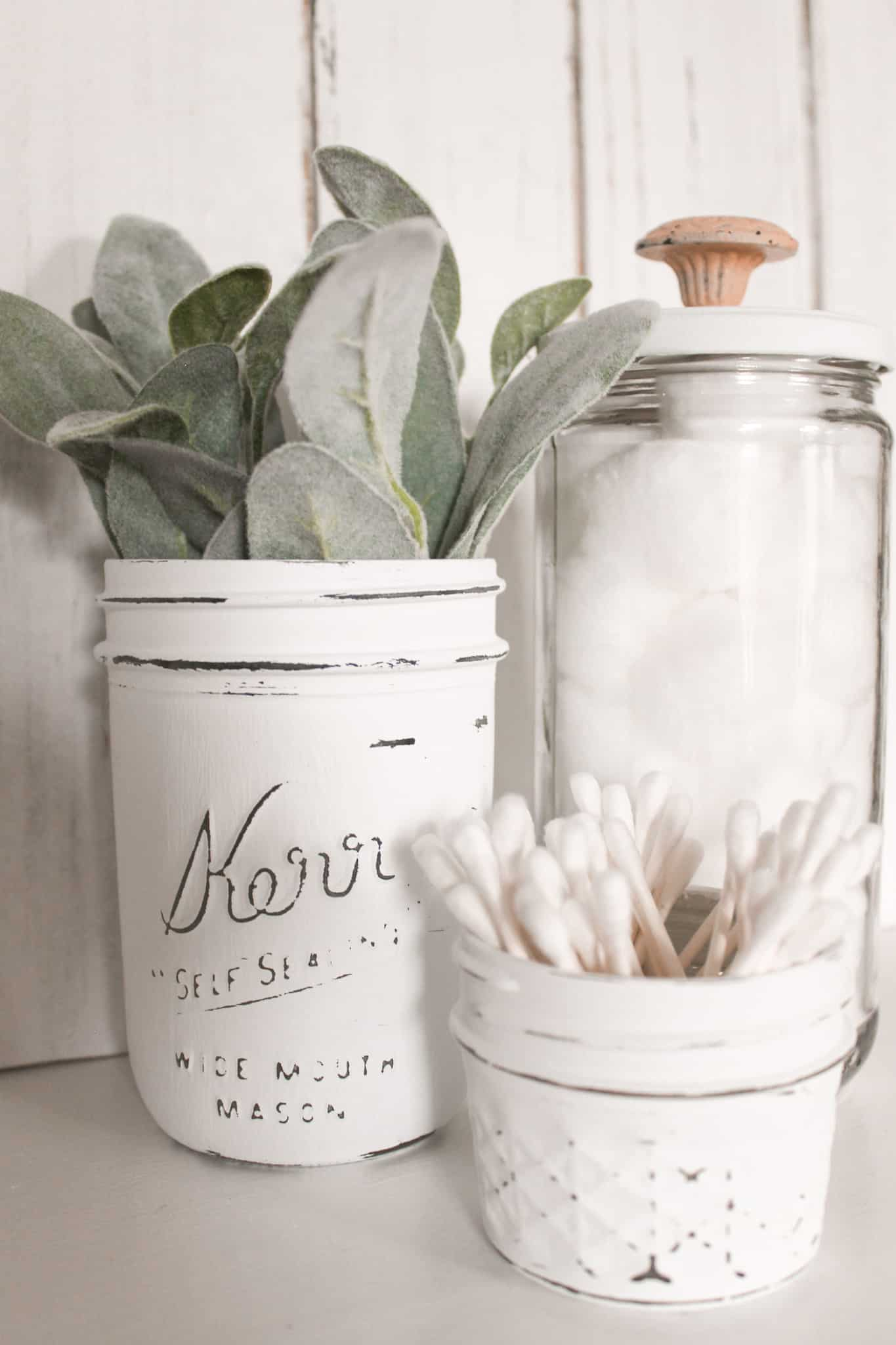 Repurposed Glass Jar Organizers for Bathroom Essentials