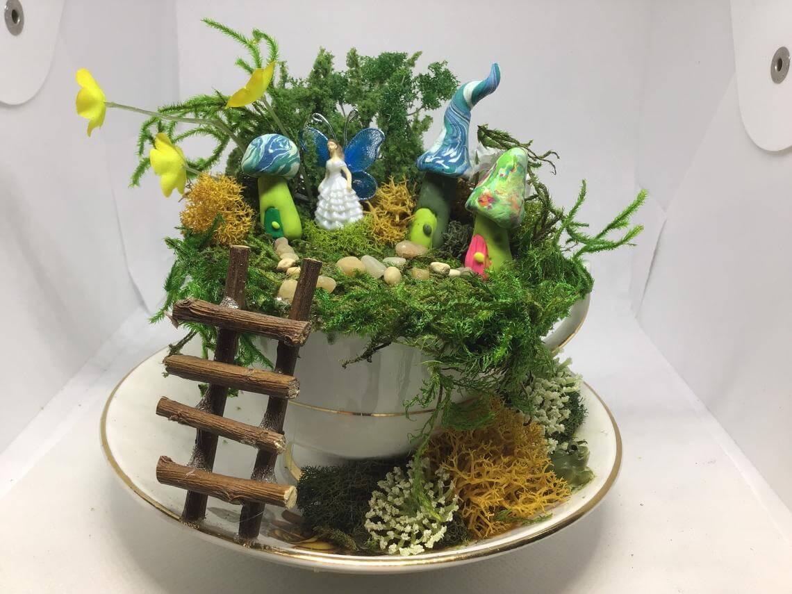 Enchanted Forest Fairy Queen Teacup Garden
