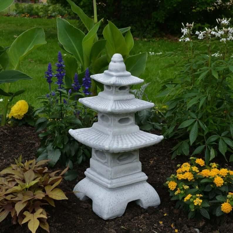 Meditation Garden Three-Tiered Pagoda Garden Sculpture