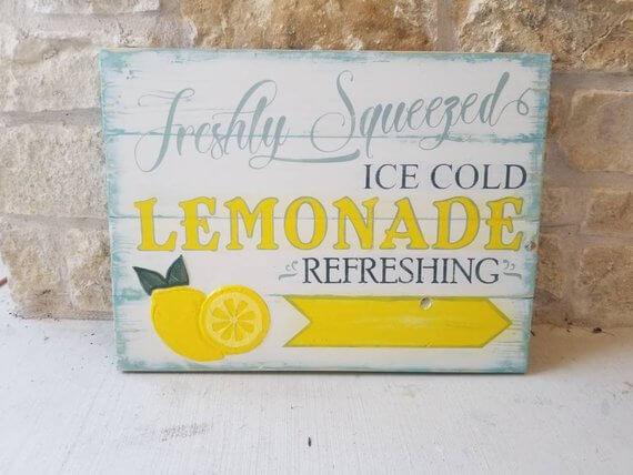 Rustic Lemonade Stand Decorative Sign