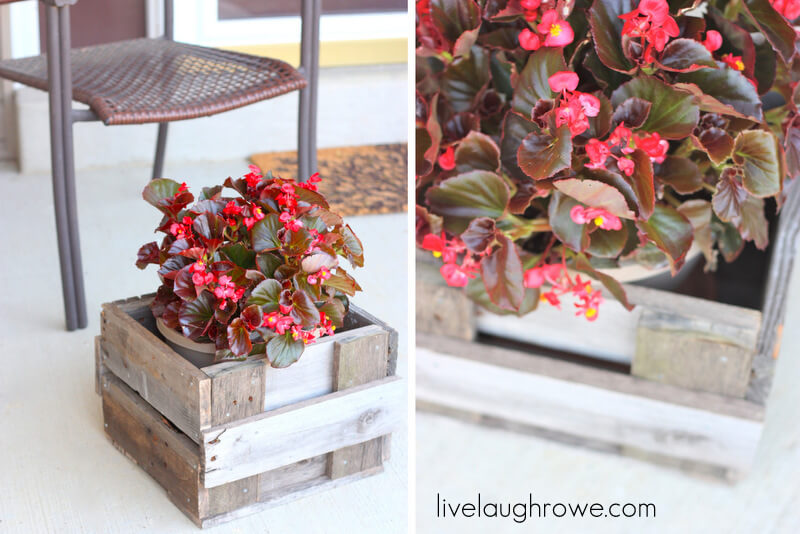 Sweet and Simple Petite Pallet Planter
