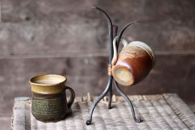 Blacksmith Beauty Hand Forged Tabletop Mug Stand