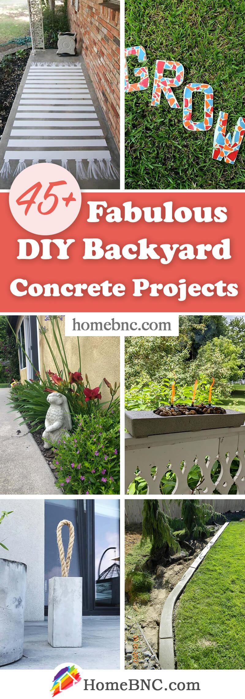 DIY Backyard Concrete Ideas