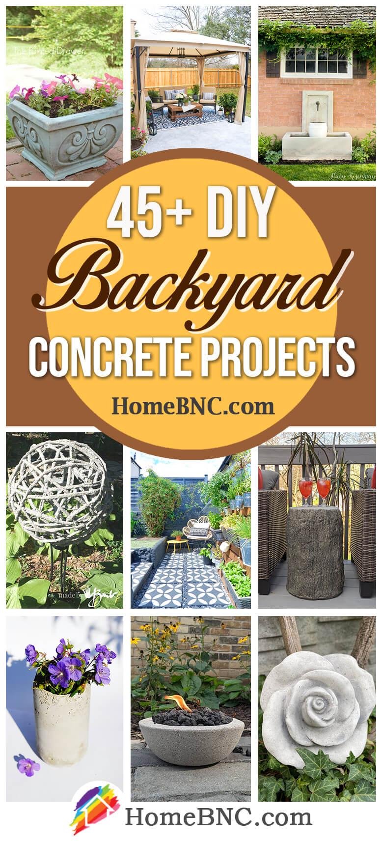 DIY Backyard Concrete Projects