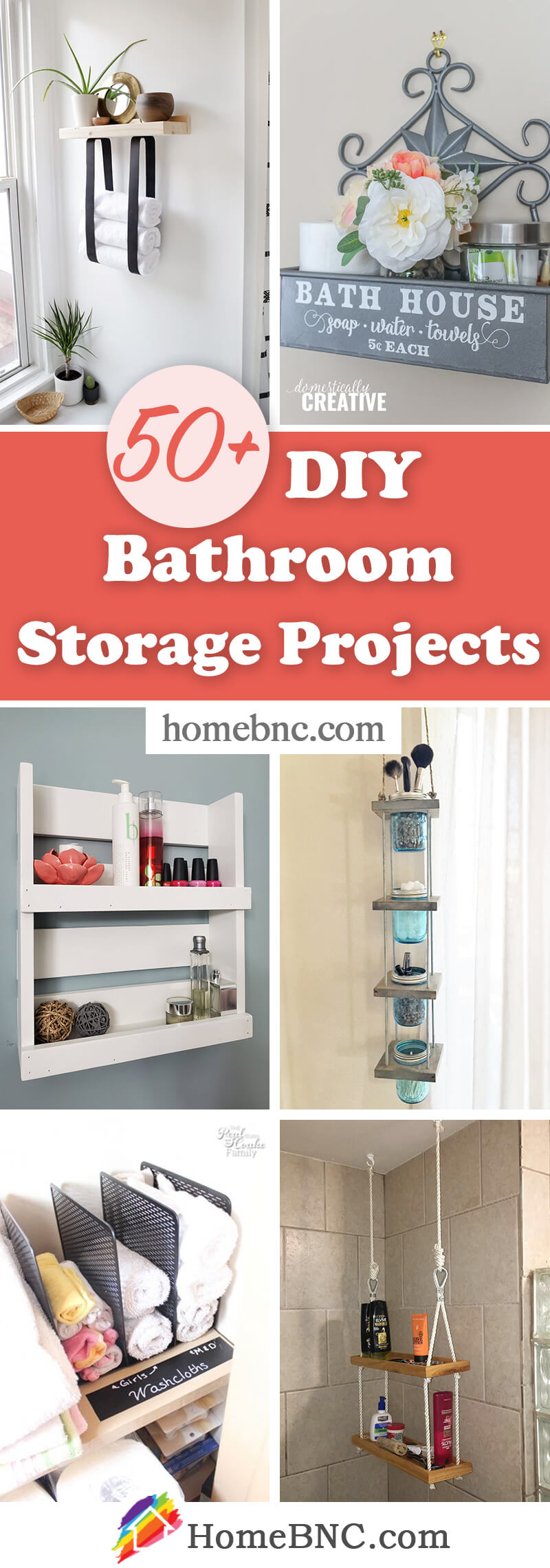 DIY Bathroom Storage Projects