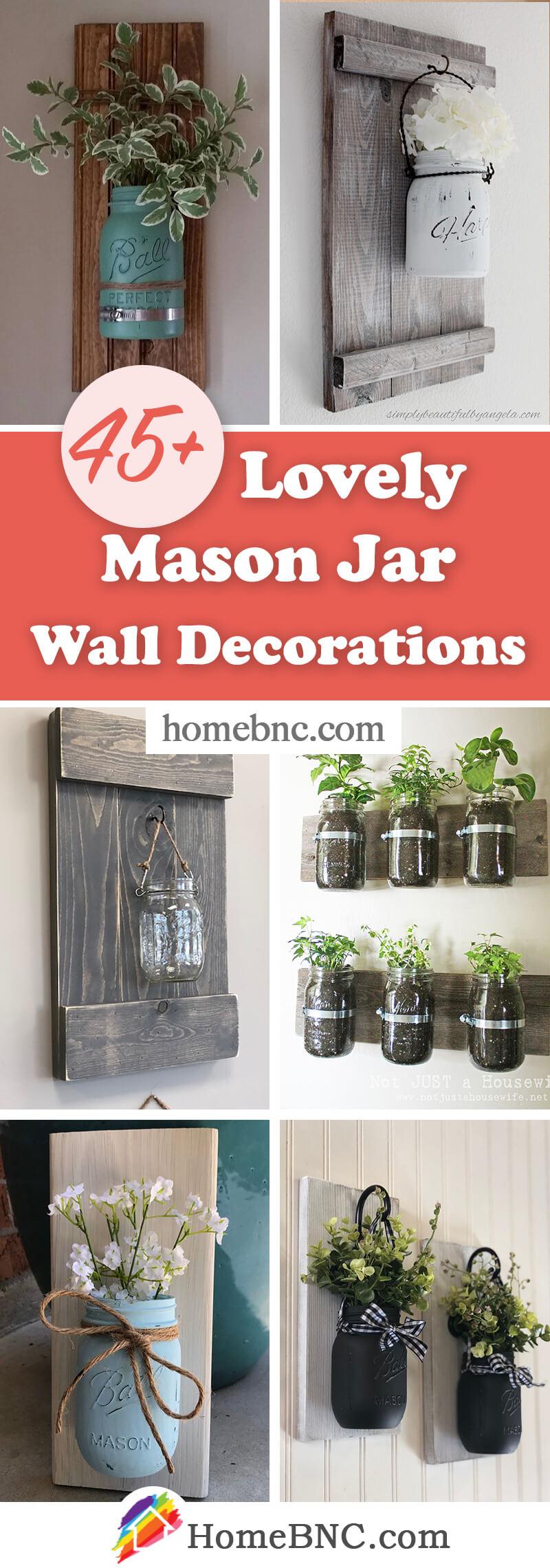 Mason Jar Wall Decorations