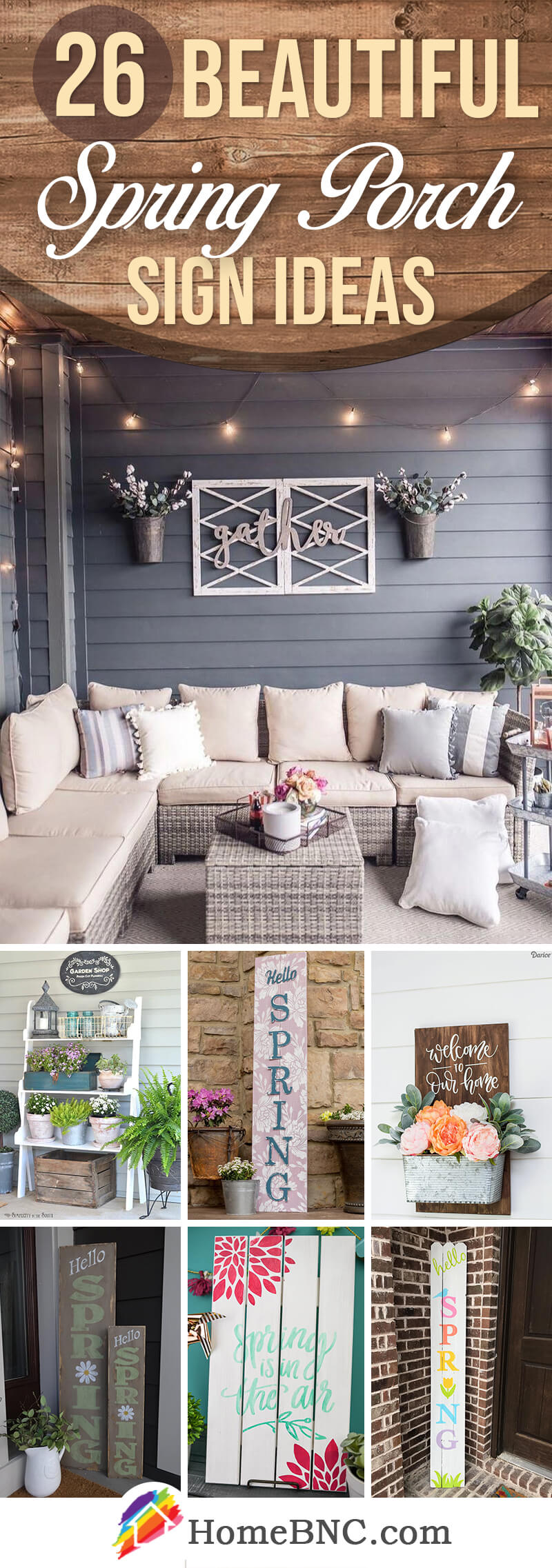 Spring Porch Sign Ideas