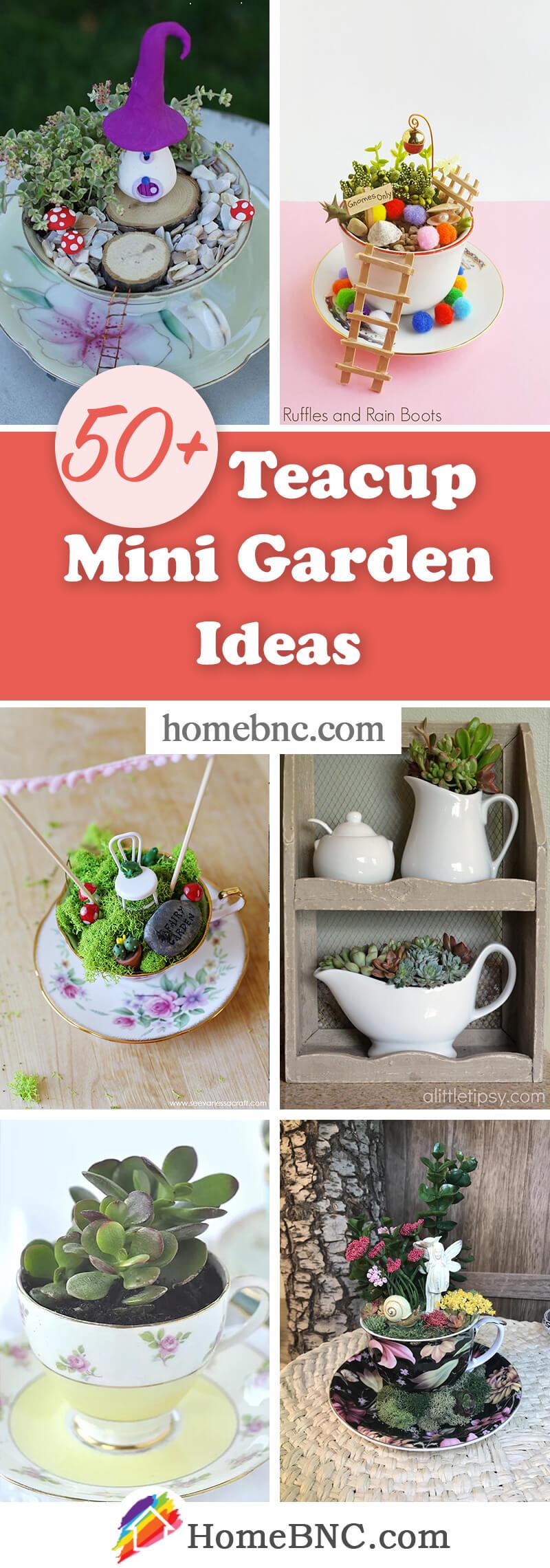 Teacup Mini Garden Ideas