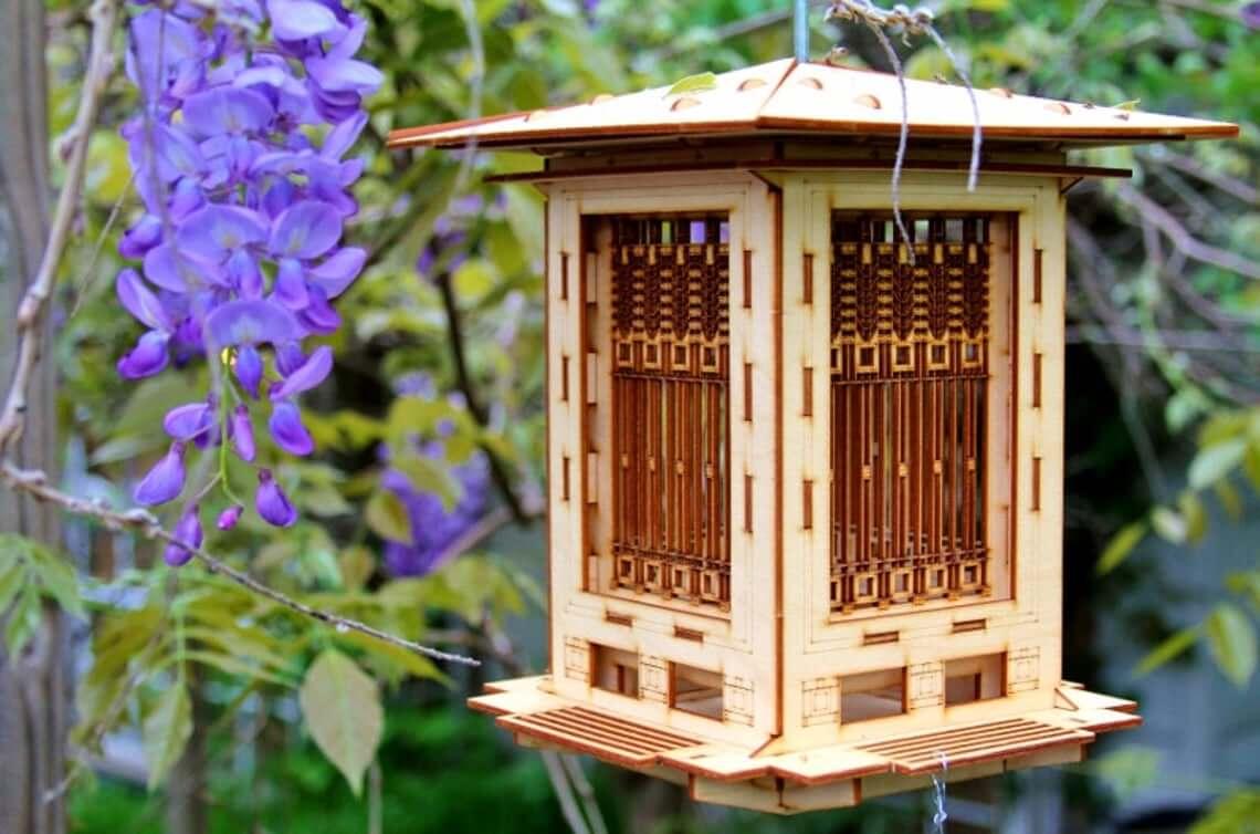 Bird Feeder and Lantern 3-D Wood Puzzle