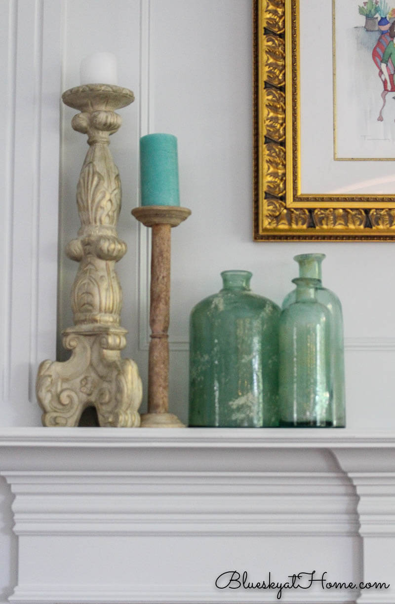 Summer Sea Glass Inspired Mantle