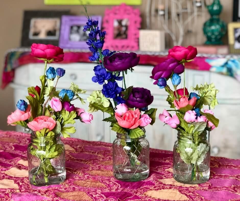 Dynamic Diamond Design Mason Jar Mini Vase