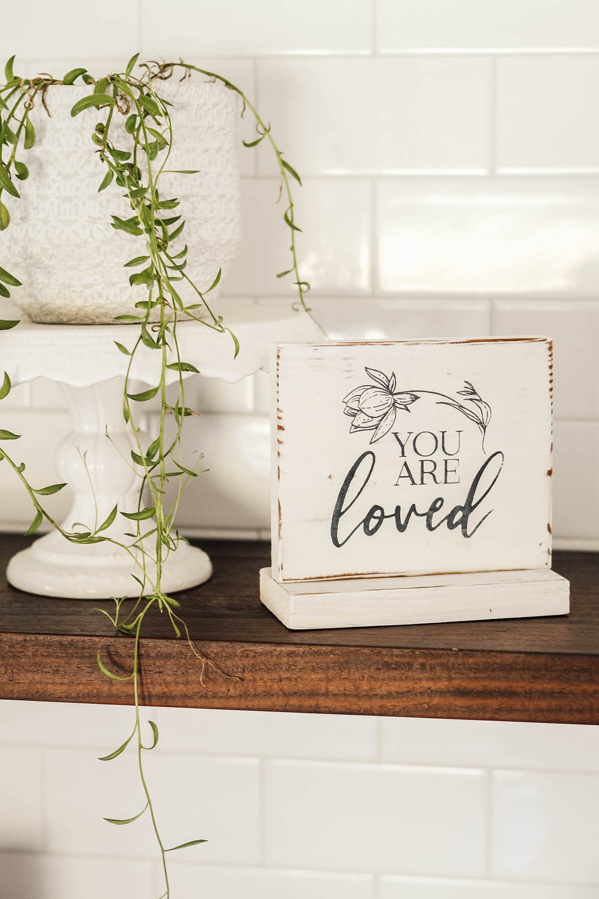 Shabby Chic You Are Loved Farmhouse Sign