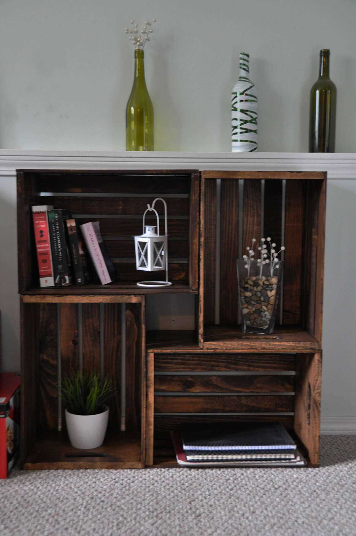 Stunning and Stained Crate Storage Center