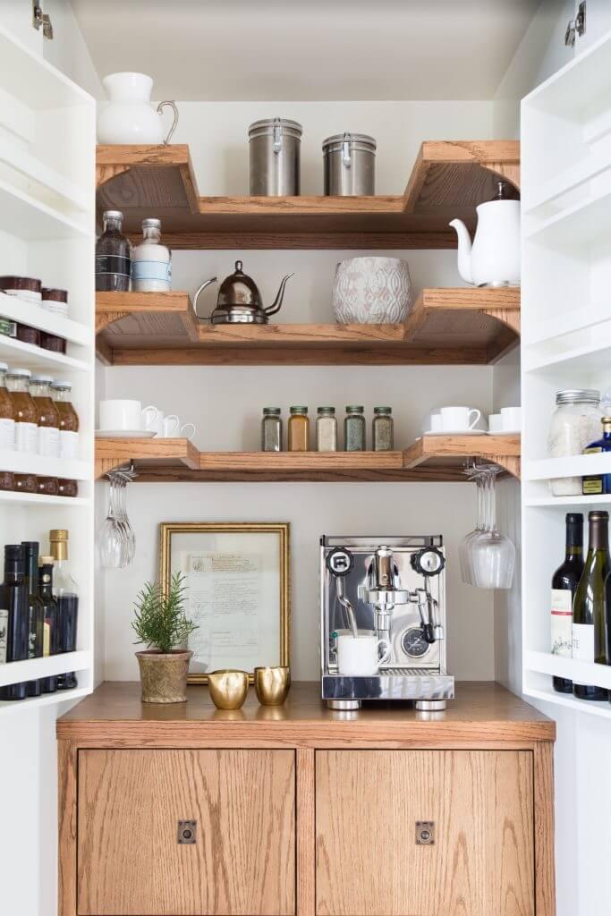 Organizer's Dream Hidden Coffee Cabinet