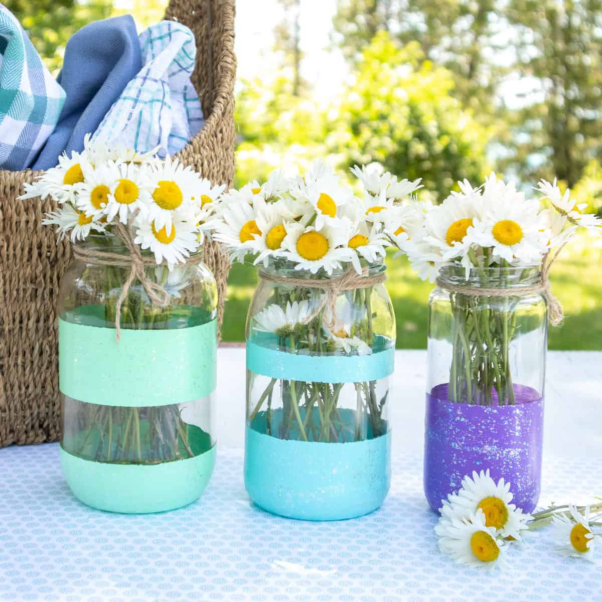 Cool and Creative Hand Painted Jar Vases