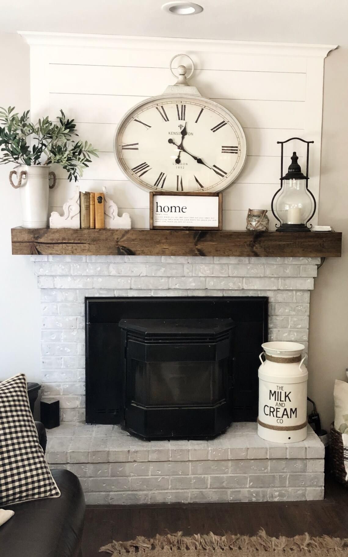 Old Feel, New Look Rustic Living Room