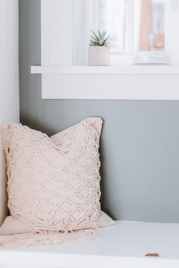 Classic Knot Woven Macrame Pillow Cover