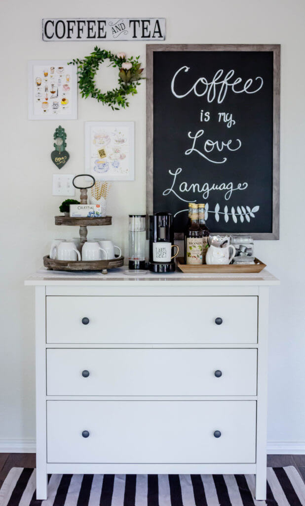 Dressed Up for Coffee White Dresser