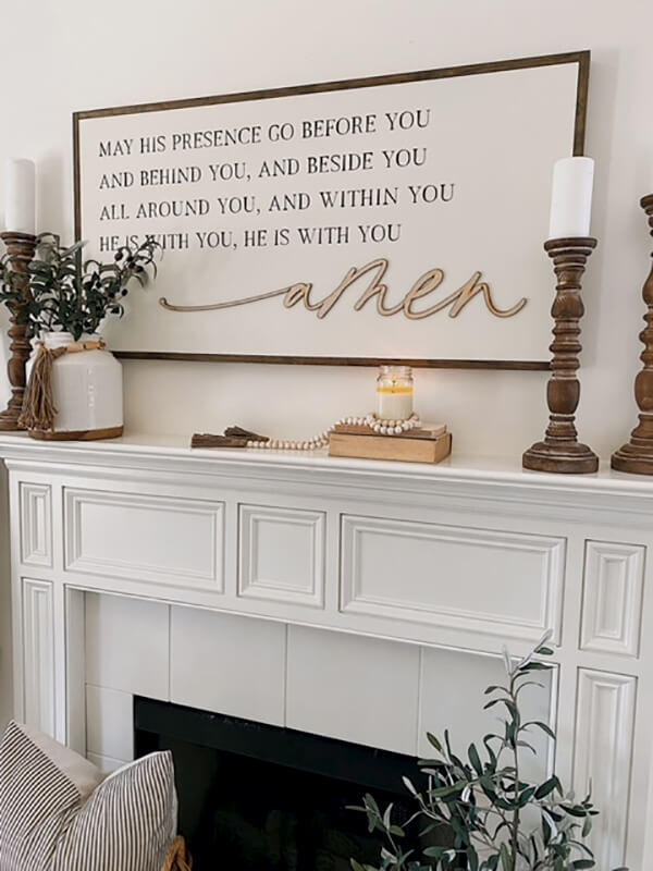His Presence All Around You Wall Sign