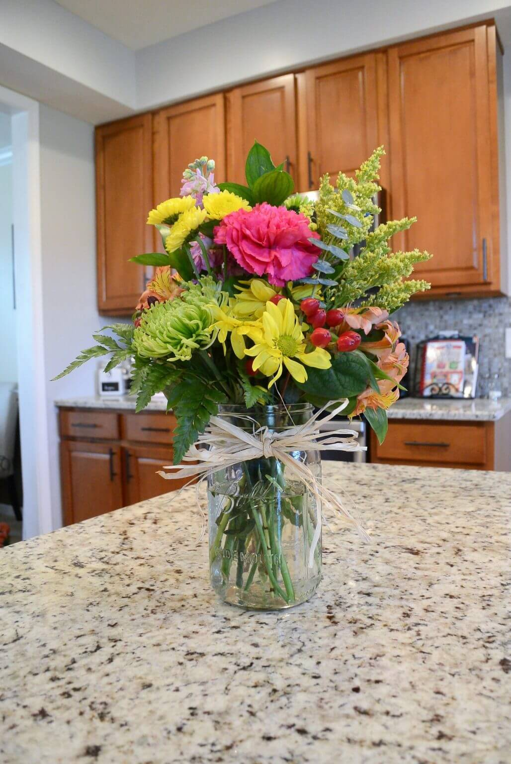 Super Simplicity Country Mason Jar Flower Vase