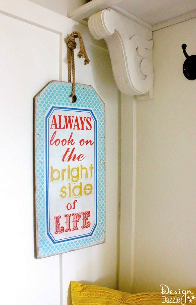 Colorful Vintage Bright Side of Life Sign