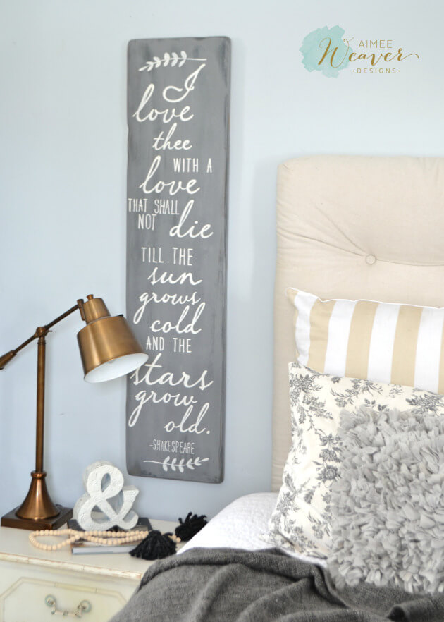 Gray and White Shakespeare Poetic Love Sign