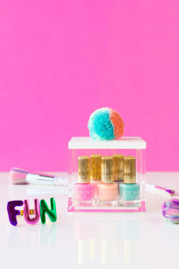 Fun and Feminine Decorative Pom Pom Storage