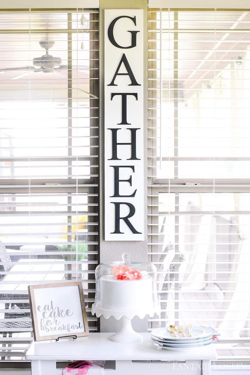 Plain and Simple Classic Colored Gather Sign