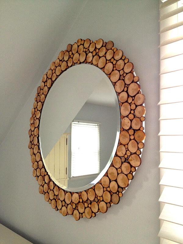 Decorative Wooden Circle Round Mirror