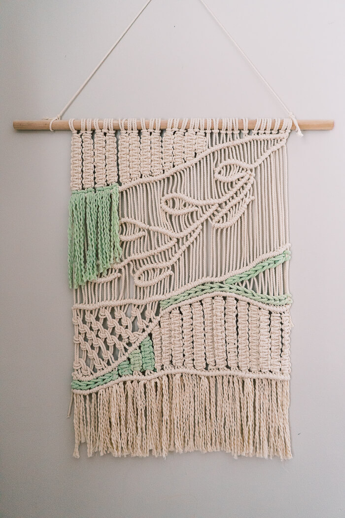 One Woven Wonderwall of Macrame Decorations Art